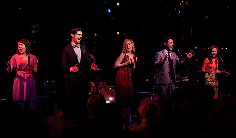 Alli Mauzey, Drew Gehling, Erin Davie, Max von Essen and Autumn Hurlbert