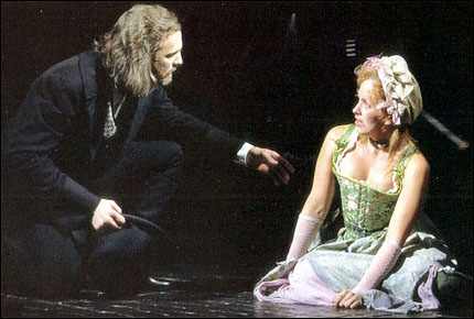 Fred Inkley as Valjean and Alice Ripley as Fantine on Broadway