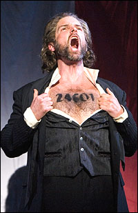 Hugh Panaro as Jean Valjean in Walnut Street Theatre's 2008 production.