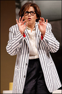 Actress-writer Anna Deavere Smith in <i>Let Me Down Easy.</i>