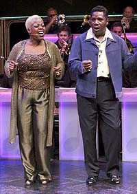 Lillias White and Cleavant Derricks in <i>Like Jazz</i>