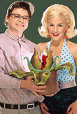 Hunter Foster and Alice Ripley star in <i>Little Shop of Horrors</i>.