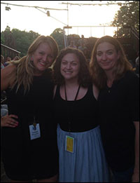 Lindsey Ferrentino (playwright), Jill Rafson (dramaturg) and GT Upchurch (director) on opening night