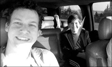 Arriving in Seattle!  Me (Kevin Earley) and Johnny Rabe being picked up at the airport a day before rehearsals start. I've been a part of the show, doing workshops, readings and recordings, for 6 years of its development. This will be Johnny's first day.