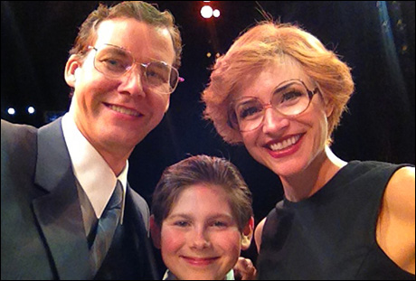 A family portrait from the finale!  Me (Kevin Earley), Johnny Rabe and Jenny Powers, one happy family at the end of the show. Oh, the late 70's had such a fashion for glasses and hair.