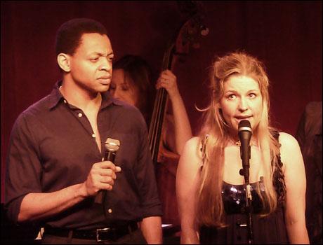 Derrick Baskin and Jessica-Snow Wilson