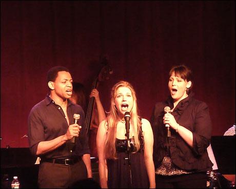 Derrick Baskin, Jessica-Snow Wilson and Lisa Howard