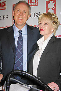 John Lithgow and Melanie Griffith announce the 2003 Tony Award nominations at Sardi's restaurant.