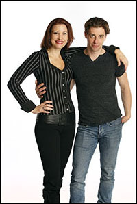 Rachel York and Christian Borle