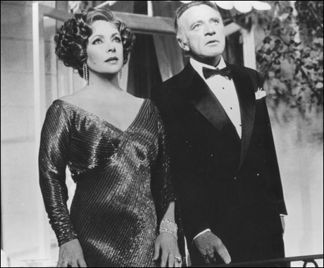 Elizabeth Taylor and Richard Burton in Private Lives, 1983.