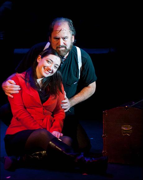 Craig with the grown up Cosette, Julie Benko