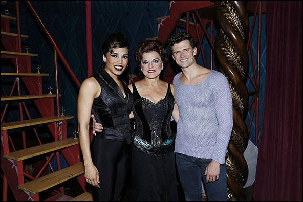 Ciara Renée, Priscilla Lopez and Kyle Dean Massey