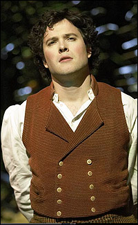 James Loye as Frodo in London's <i>The Lord of the Rings</i>.