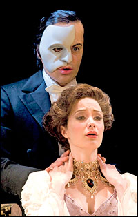 Ramin Karimloo and Sierra Boggess in <i>Love Never Dies</i>.