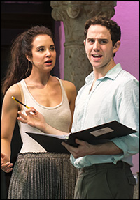 Alexandra Silber and Santino Fontana in rehearsal