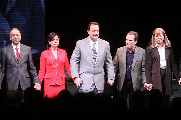 George C. Wolfe, Maura Tierney, Tom Hanks, Peter Scolari and Deirdre Lovejoy