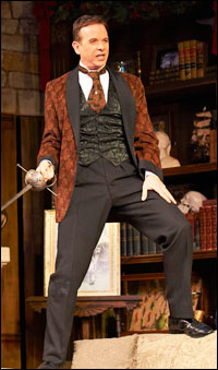Donald Sage Mackay as William Gillette in <i>The Game's Afoot</i> at Cleveland Playhouse.