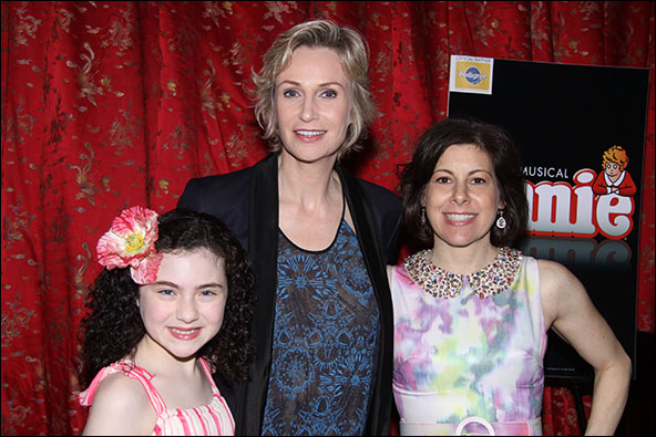 Lilla Crawford, Jane Lynch and Arielle Tepper Madover