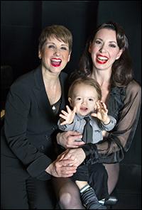 Leslie Stifelman and Melissa Rae Mahon with son Jack