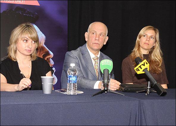 Marina Shclover, John Malkovich and Sophie Klussman