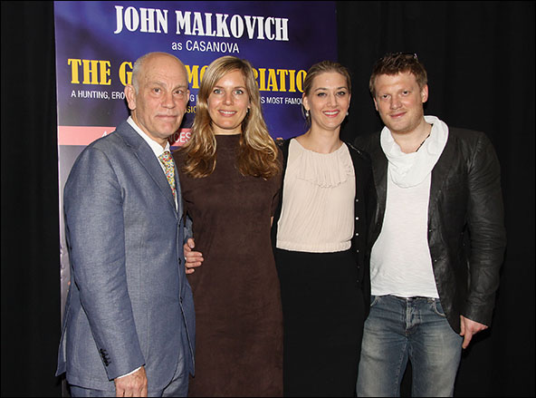 John Malkovich, Sophie Klussman, Kirsten Blaise and Daniel Schmutzhard