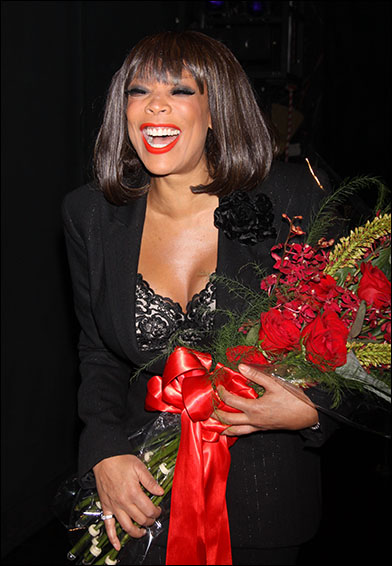 """Celebrated talk-show host and best-selling author Wendy Williams was all smiles as she made her Broadway debut as Matron """"Mama"""" Morton in the Tony Award-winning revival of Chicago on  June 28."""