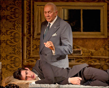 Adam Driver and Frank Langella in the 2011 Broadway production Man and Boy.