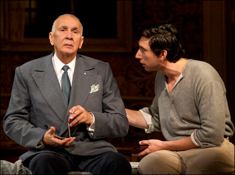 Frank Langella and Adam Driver in the 2011 Broadway production Man and Boy.