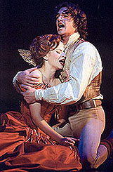 <I>Dance of the Vampires'</I> Mandy Gonzalez and Max von Essen embrace.