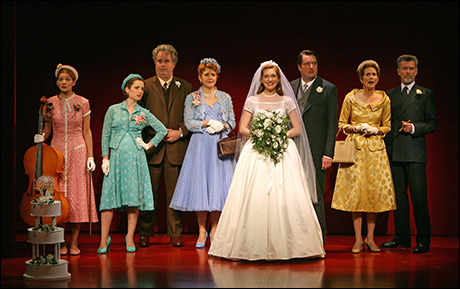Heather Burns, Zoe Lister-Jones, Adam LeFevre, Victoria Clark, Kate Jennings Grant, Christopher Evan Welch, Julie Hagerty and John Glover in Roundabout's The Marriage of Bette and Boo