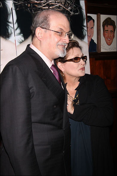 Salman Rushdie and Carrie Fisher