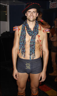 Kyle Dean Massey backstage at <i>Broadway Bares</i>.