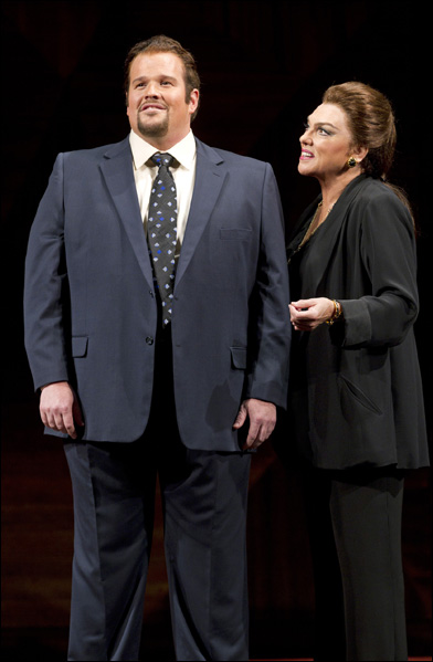 Garrett Sorenson and Tyne Daly in Master Class, nominated for Best Revival of a Play