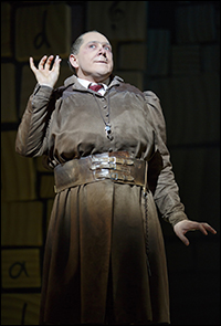 Bertie Carvel in <i>Matilda</i>.