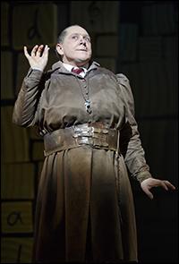 Bertie Carvel in <i>Matilda</i>.