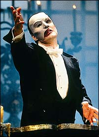 Howard McGillin as <I>The Phantom of the Opera</I>.