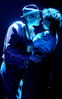 Chad Kimball and Montego Glover in a regional production of <I>Memphis</I>