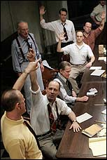 A scene from The Roundabout Theatre Company's <I>Twelve Angry Men</I>