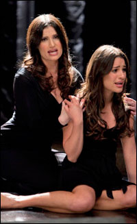 Idina Menzel and Lea Michele on