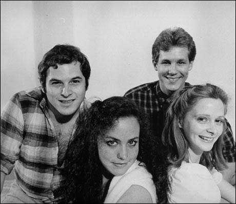 Original cast members Jason Alexander, Terry Finn, Jim Walton and Sally Klein