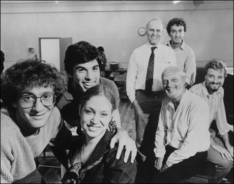 Lonny Price, James Weissenbach, Ann Morrison, George Furth, Harold Prince and Stephen Sondheim