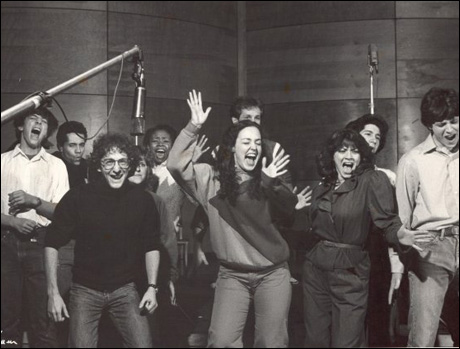 Forest Dino Ray, Lonny Price, Maryrose Wood, Tonya Pinkins, Jim Walton, Terry Finn, Donna Marie Asbury and Gary Stevens record the cast album