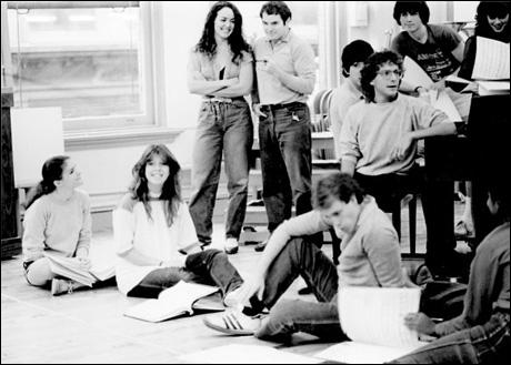 Mana Allen, Daisy Prince, Terry Finn, Jason Alexander, Lonny Price and Donna Marie Asbury in rehearsal
