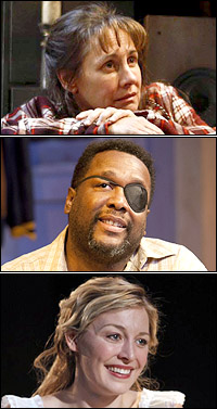 Laurie Metcalf, Wendell Pierce and Juliet Rylance