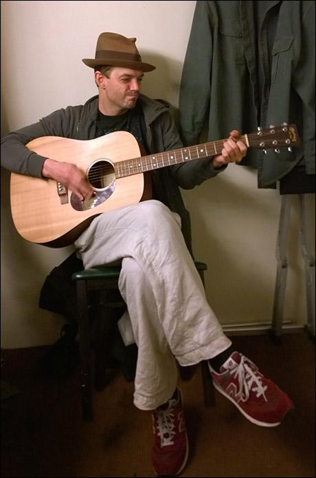 James McMenamin plays some guitar. 6:15pm