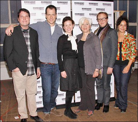 Curtis Billings, Darren Pettie, Maggie Lacey, Olympia Dukakis, Edward Hibbert and Elisa Bocanegra