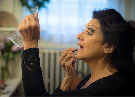 The amazing Lenora Nemetz applying her Mrs. Meers makeup!