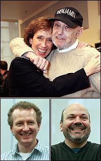 <I>Minsky's</I> team Susan Birkenhead, Charles Strouse, Bob Martin and Casey Nicholaw