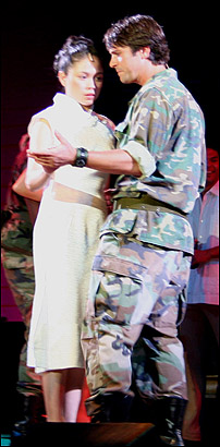 Ma-Anne Dionisio as Kim and Eric Kunze as Chris in <I>Miss Saigon</I>.