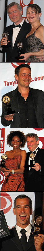 Top to Bottom: 2005 Tony winners John Patrick Shanley and Cherry Jones; Adam Guettel; Adriane Lenox and Doug Hughes; Jerry Mitchell